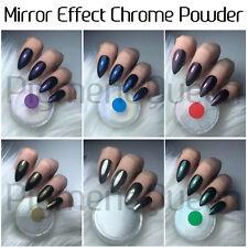 Mirror Powder Chrome Effect Art Nail Pigment Red Blue Purple Silver Green Nails
