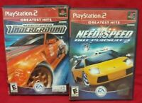Need For Speed Underground Hot Pursuit 2 - Racing   PS2 Playstation 2 Game Lot