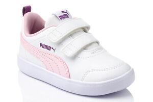 PUMA COURTFLEX V2 INF Kinderschuhe Sneaker Sportschuhe Klettverschluss 371544-15