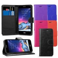 For LG K8 2017 M200N - Premium Leather Wallet Flip Case Cover + Screen Protector