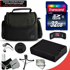 32GB Memory Accessories KIT f/ NIKON Coolpix P7000 w/ Battery + Case + MORE