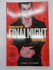 IDW 30 DAYS OF NIGHT FINAL NIGHT TALES GRAPHIC NOVEL 2013 FIRST PRINTING