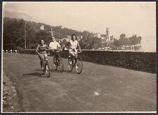 YZ0268 Lago di Como - Gita in bicicletta - Foto d'epoca - 1939 vintage photo
