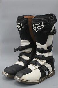 Fox Racing Girls Tracker Boots 04 White ATV Offroad MX Motocross Dirt Bike 10 US