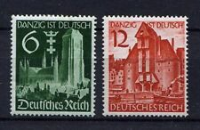 German Reich WW II : Danzig Reintegration set from 1939 - mint