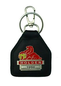1956 Holden Real Leather and Metal Keyring / Keyfob