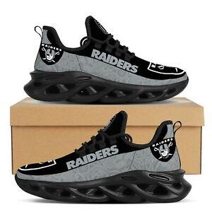 Las Vegas Raiders Sneakers Shoes Men's Mesh Trail Running Training Shoes