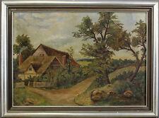 99860111 Öl-gemälde Autografato W.Rorsche Fattoria Dat. 1950