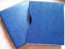 KANGA Australian STOCK SHEET STAMP ALBUM BLUE BINDER + SLIPCASE