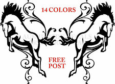 HORSE float riding car DECALS x2 4x4 pony Scrolls LARGE PAIR