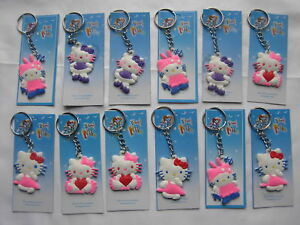 12 Hello Kitty Keyring Children's Party Loot Present Filler Fitter Gifts Bags,