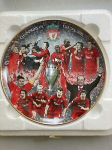 Champions of Europe 2005,Official Danbury Mint collectors Plate LFC Liverpool