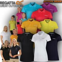 Regatta Polo T Shirt Womens Maverik Walking Outdoor Hiking Work Gym Sport Top