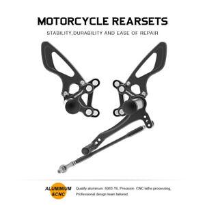 CNC Rear Adjustable Rearset Foot Pegs Motorcycle For Ducati 749/999 Black