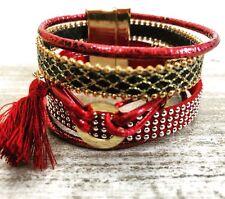 feminine und stylische Armbänder... BORDEAUX Ipanema-Armband... hippie chic...