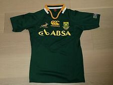 SOUTH AFRICA SA RUGBY SPRINGBOKS CANTERBURY RUGBY GREEN JERSEY TOP MAN S