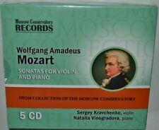 KRAVCHENKO violin VINOGRADOVA piano MOZART Sonatas 5CD SET BRAND NEW