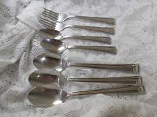 Fiesta 18/8 Stainless Korea - 2 Teaspoons, 3 Oval Soup Spoons & 2 Salad Forks