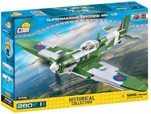 COBI WWII RAF Supermarine Spitfire MK. VB Fighter Plane Model Block Set # 5708