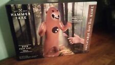 "Inflatable 58"" Bear Toss Game ~ Includes 3 Hook & Loop Plastic Balls ~ Nib"
