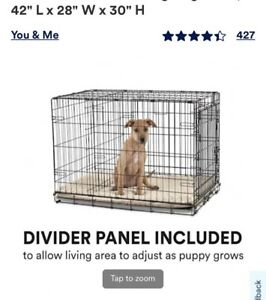 MidWest Homes for Pets 1542DD iCrate Metal Double Door Folding Dog Crate