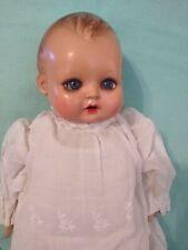 "11"" Celluloid Head - Marked Minerva Germany - Cloth Body - Glass eyes"