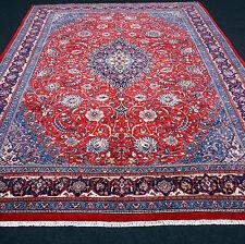 Orient Teppich Rot 365 x 285 cm Blau Perserteppich Handgeknüpft Red Blue Carpet