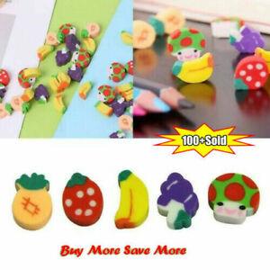 Mini Fruit Shaped Rubber Pencil Eraser Novelty Stationery Children Gift .
