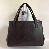 Weymouth American Brown Textured Faux Leather Fabric Lined 1960s Vintage Handbag