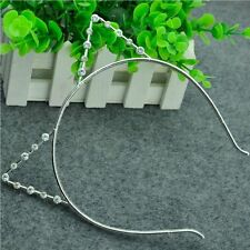 Gift Alloy Girls Fashion Cute Headwear Hair Hoop Cat Ears Faux Rhinestone
