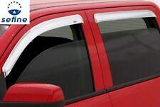 AVS Rain Guards 4Pc Chrome Window Vent Visor For 2015-2019 Ford F-150 684975