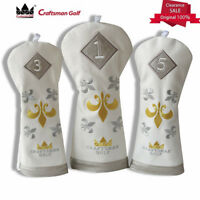 Golf Driver Head Cover Fairway/Hybrids Headcovers For Taylormade Callaway White