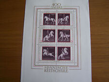 AUSTRIA 1972,400TH ANNIV OF SPANISH RIDING SCHOOL, M/SHEET,F/USED,EXCELLENT.