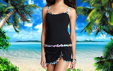 NWT GOTTEX PROFILE Pixel TANK 34D SKIRT 2pc BATHING SUIT Swimsuit SET sz - 8