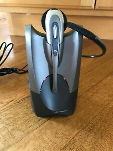 Plantronics CS50 Wireless (for Phone) Office Headset System Ear Loop Microphone