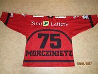 Kölner Haie U.S.Coastline Eishockey Trikot 2002/03 + Nr.75 Morczinietz Gr.L- XL