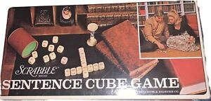 Vintage 1971 Scrabble Sentence Cube Game Selchow & Righter Co Complete/excellent