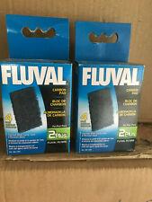 Fluval 2+ Plus Carbon Filter Pads Original verpackt - 2 Packungen mit je 4 Pads