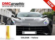 2xa4 CHAMELEON GIALLO auto moto fari luce posteriore Pellicola Tinta adesiva in pvc