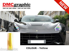 2xA4 chameleon jaune auto moto phare feu arrière adhésif tint film pvc