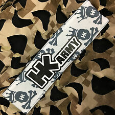 New Hk Army Paintball Headband Padded Tying Head Sweat Band - Hk King White