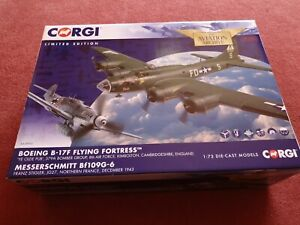 Corgi Aviation AA39915 B-17F FlyingFfortress/ Bf109G-6 messerschmitt