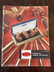 1956 NIBCO Fittings Copper Plumbing Catalog Elkhart Northern Indiana Brass Co