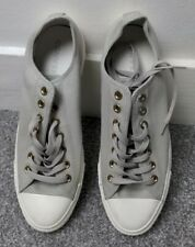 Converse CTAS Chuck Taylor All Star Ox Mono Canvas Pale Grey Unisex Trainers New