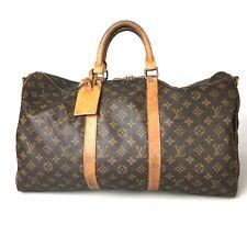Louis Vuitton Monogram Keepall 50 M41426 Boston bag name tag with Used 688-9Z