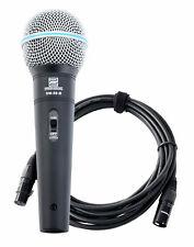 Profi DJ PA Vocal Mikrofon Gesangs Mikrophon Stage Hand Microphone XLR Kabel Set