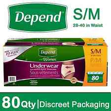 Depend for Women Underwear, Maximum Absorbency, Small Medium 80 ct.  Discreet