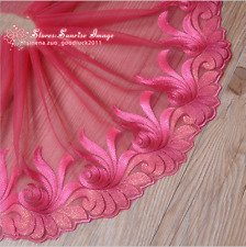 Floral Embroidery Tulle Lace Trim Ribbon Wedding dress Fabric Sewing craft FL100