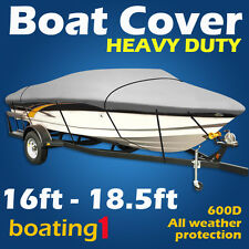 Heavy Duty Premium 600D 16ft-18.5ft Traileable Marine Grade Boat Cover