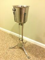 Mid Century Style Champagne Bucket And Stand